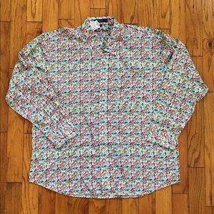 New Alan Flusser XXL Paisley Button Up Shirt